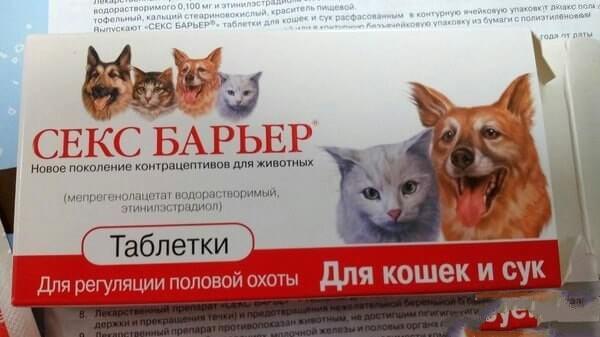 Секс барьер капли для кошек схема приема